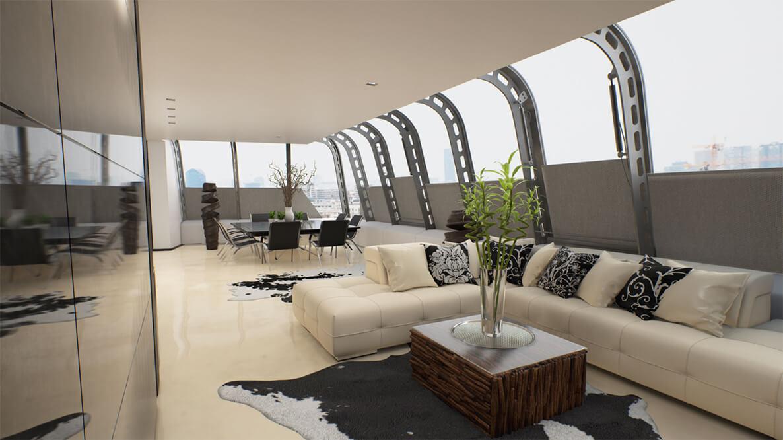 Fotorealistický interiér vytvořený v Unreal Engine